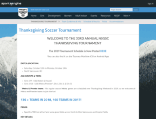 thanksgivingsoccertournament.com screenshot