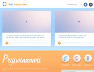 thankyou.first-impressions.nl screenshot