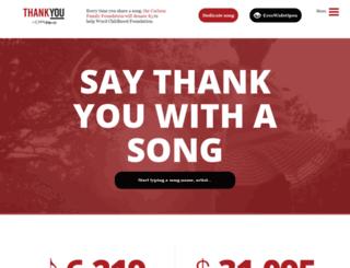 thankyou.org screenshot