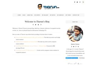 tharunpkarun.com screenshot