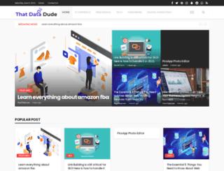 thatdatadude.com screenshot