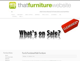 thatfurniturewebsite.co.za screenshot