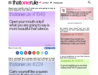 thatonerule.com screenshot