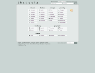thatquiz.com screenshot