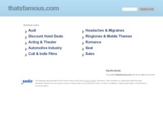 thatsfamous.com screenshot