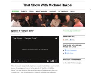thatshowwithmichaelrakosi.com screenshot