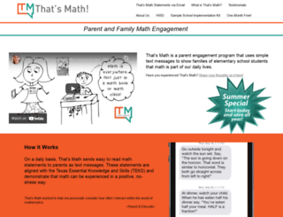 thatsmath.com screenshot
