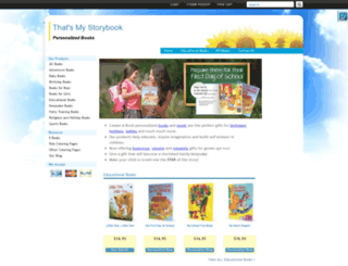 thatsmystorybook.com screenshot