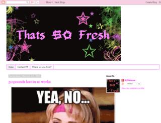 thatssofresh.blogspot.com screenshot