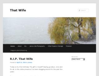 thatwifeblog.com screenshot