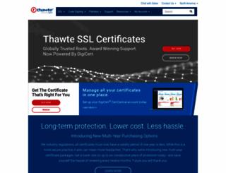 thawte.com screenshot
