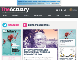 the-actuary.org.uk screenshot