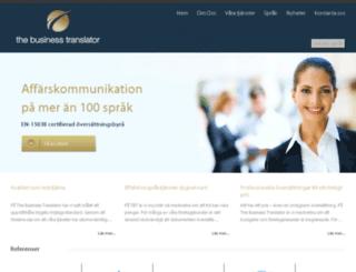 the-business-translator.se screenshot