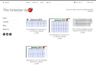 the-calendar-spot.myshopify.com screenshot