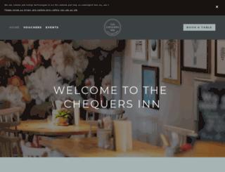 the-chequers-ettington.co.uk screenshot
