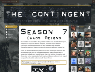 the-contingent.obsidianportal.com screenshot