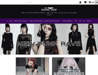 the-gothic-shop.co.uk screenshot