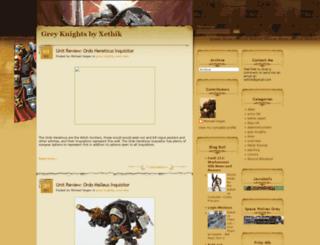 the-grey-knights.blogspot.com screenshot