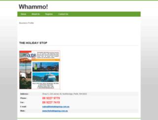 the-holiday-stop.whammo.com.au screenshot