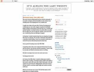 the-last-twenty.blogspot.com screenshot