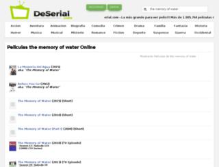 the-memory-of-water.deserial.com screenshot