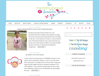 the-mommyhood-chronicles.com screenshot