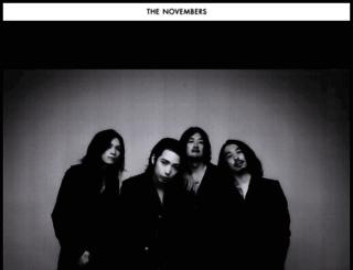the-novembers.com screenshot