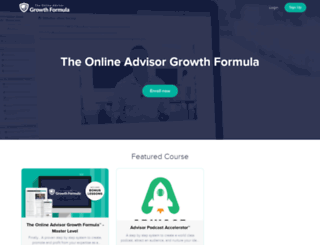 the-online-advisor-growth-formula.teachable.com screenshot