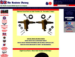 the-roadster-factory.com screenshot