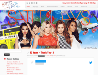 the-saturdays.co.uk screenshot