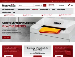 the-shredder-warehouse.com screenshot