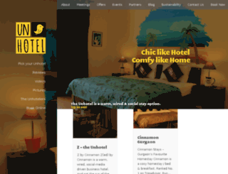 the-unhotel.com screenshot