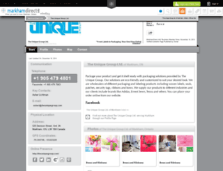 the-unique-group-ltd.markhamdirect.info screenshot