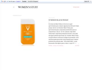 the-womensstuff.blogspot.pt screenshot