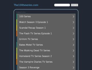 the100tvseries.com screenshot