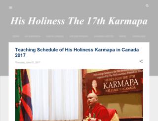 the17thkarmapa.blogspot.tw screenshot