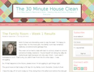 the30minutehouseclean.com screenshot