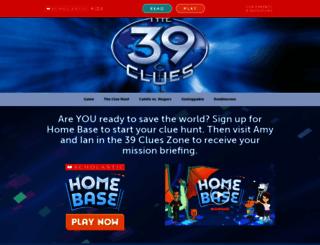 the39clues.com screenshot