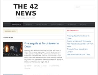 the42news.com screenshot