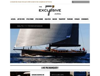 the7exclusivejournal.com screenshot