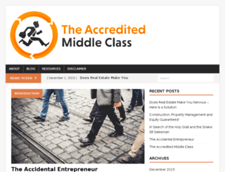 theaccreditedmiddleclass.com screenshot