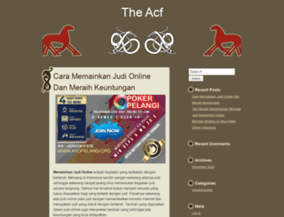 theacf.org screenshot