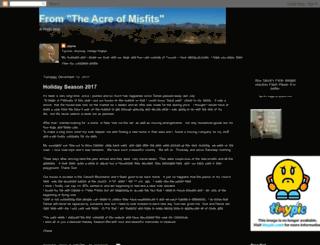 theacreofmisfits.blogspot.com screenshot