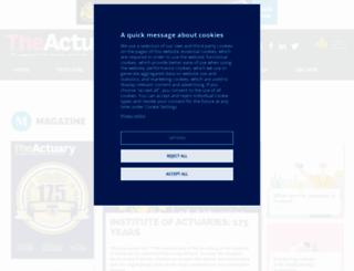 theactuary.com screenshot