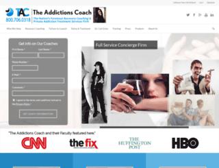 theaddictionscoach.com screenshot