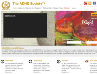 theadhdsociety.com screenshot