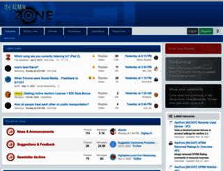 theadminzone.com screenshot