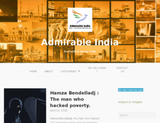 theadmirableindia.com screenshot