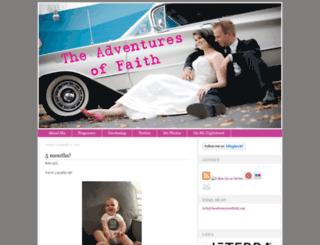 theadventuresoffaith.com screenshot