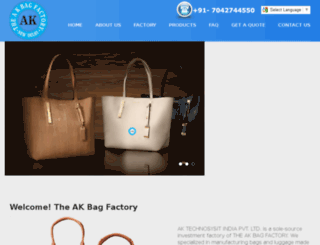 theakbagfactory.com screenshot
